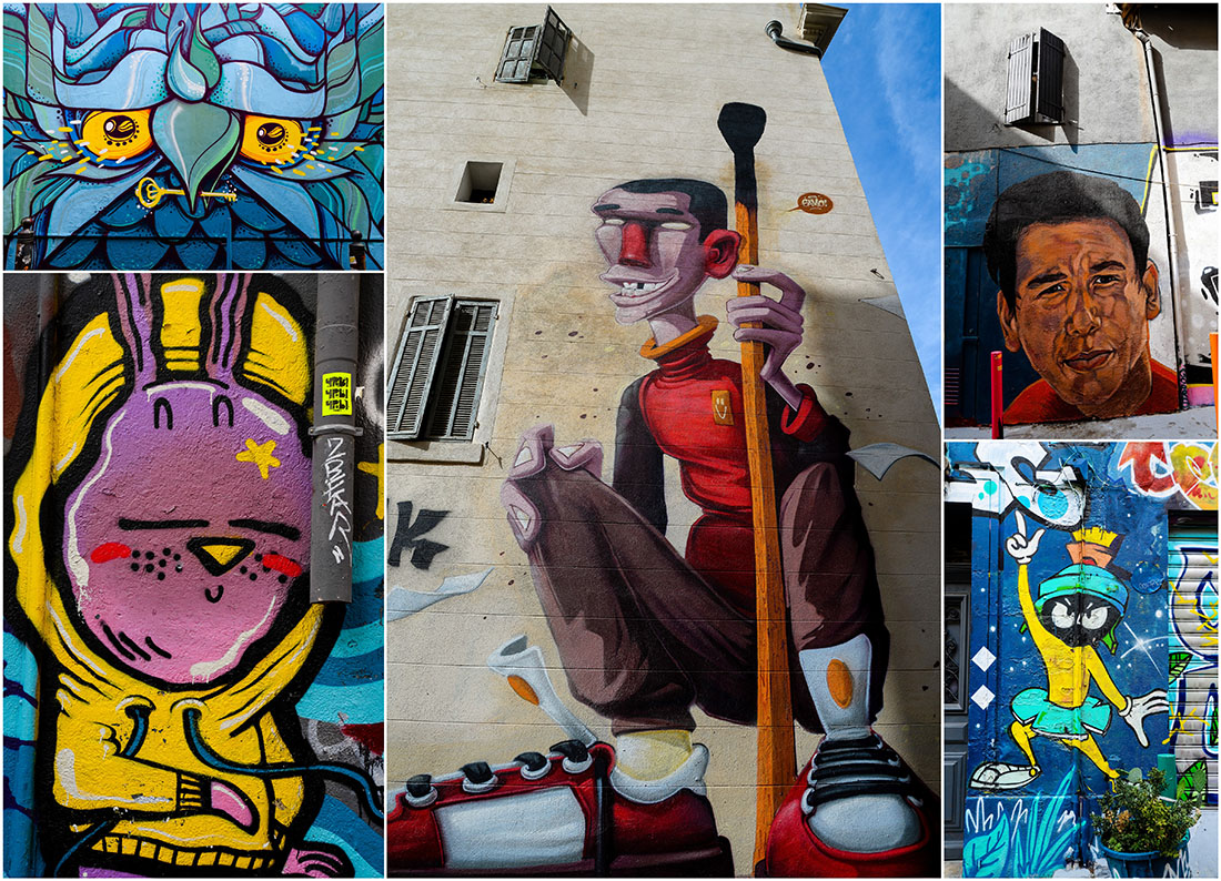 street-art, quartier du Panier, week-end à Marseille