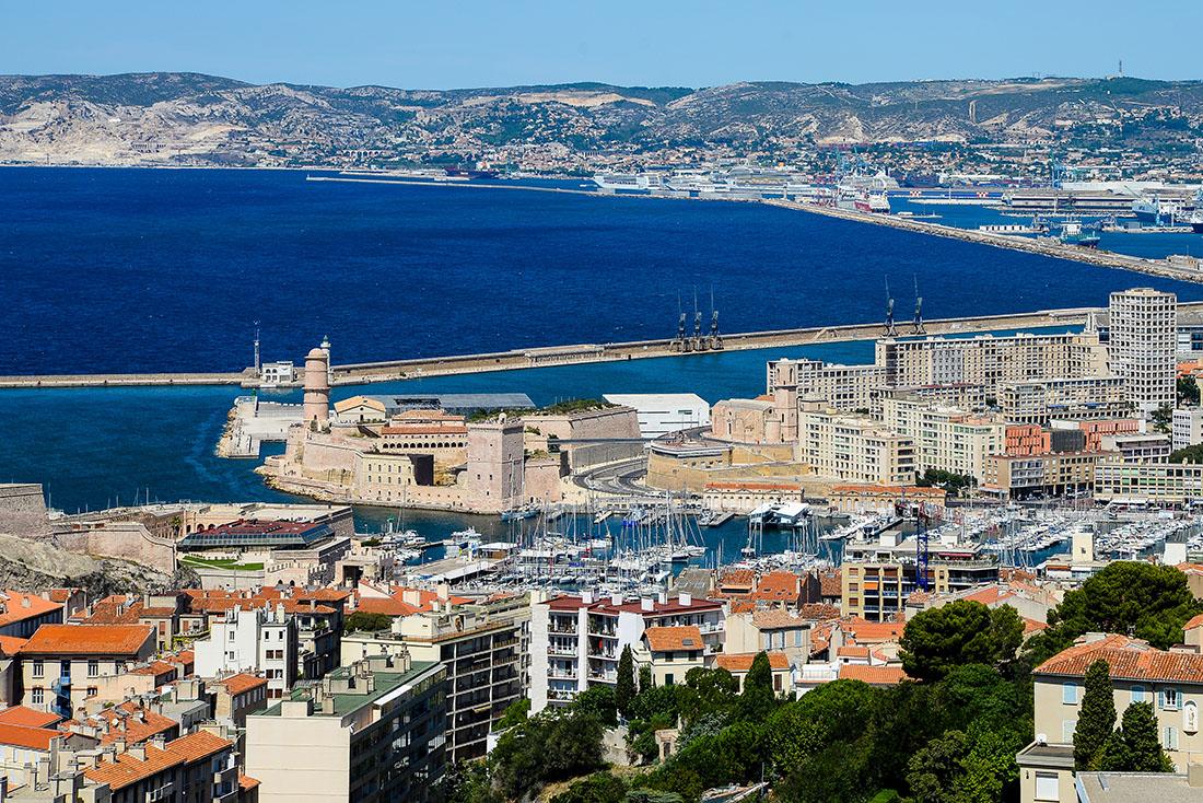 Vue sur Marseille depuis Notre-Dame la Garde