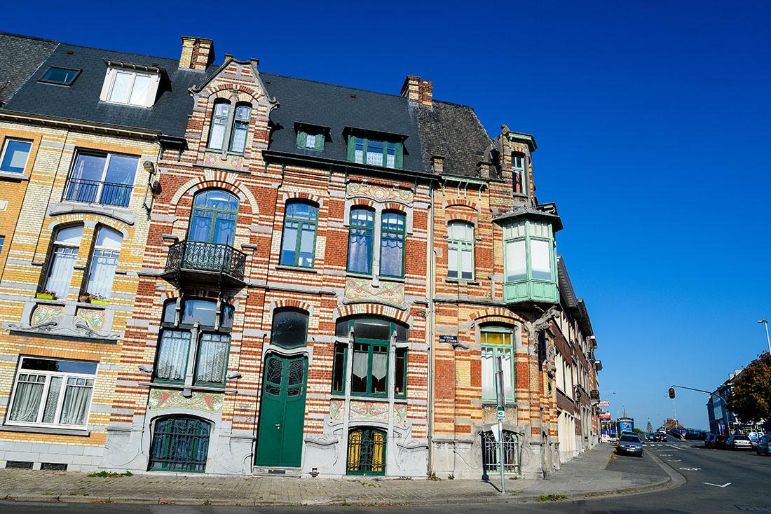 maison art nouveau, tournai, belgique