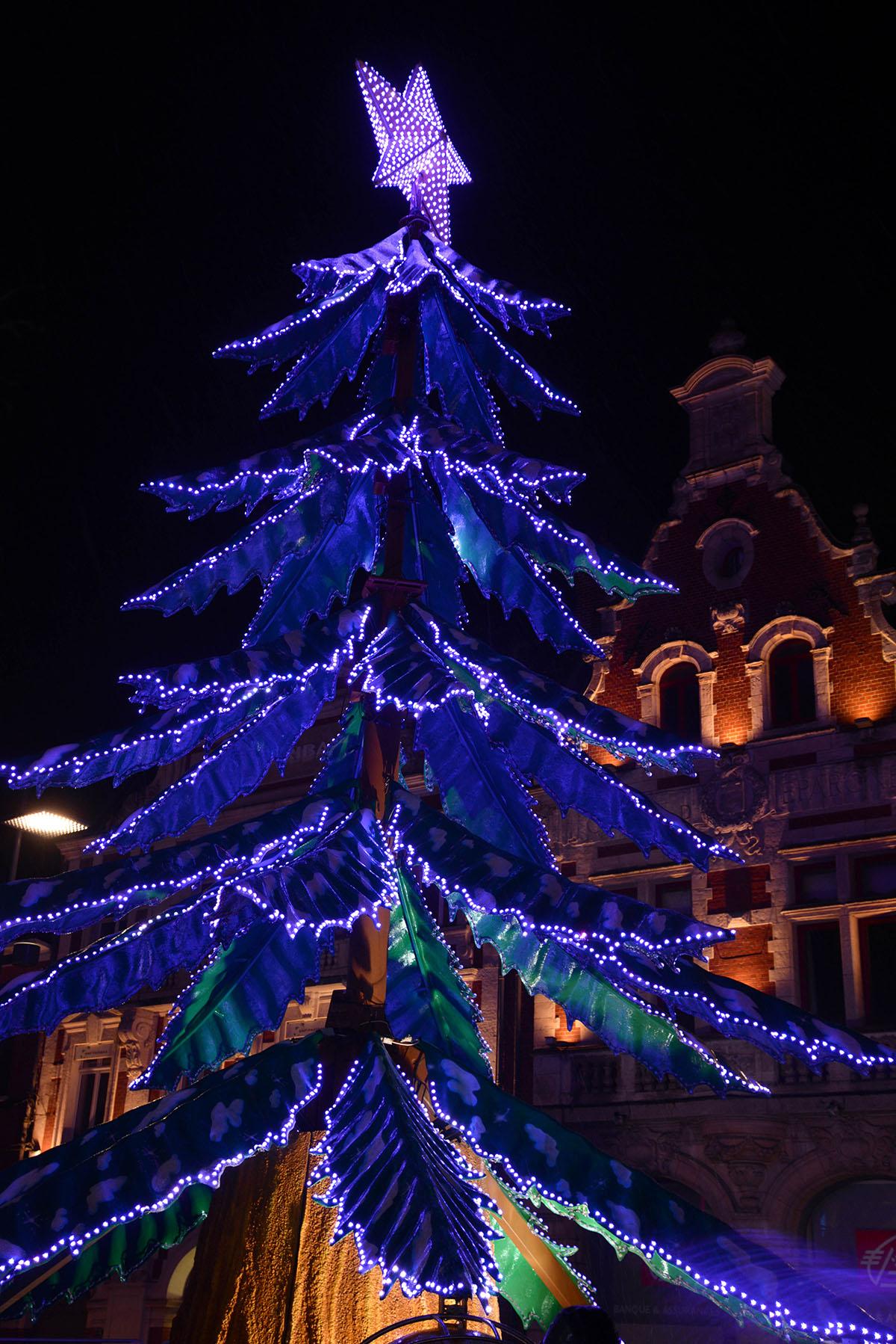 marché de Noël de Béthune, Pas-de-Calais, vue depuis le Beffroi