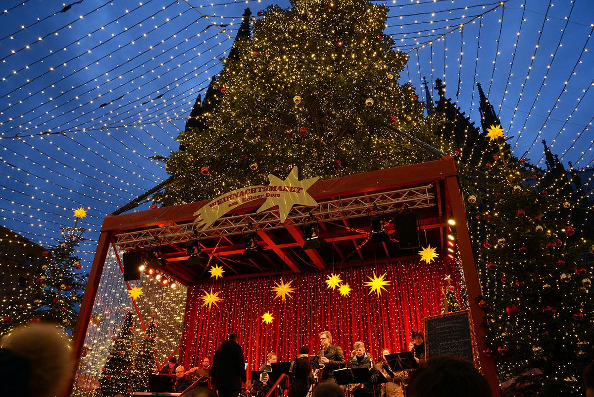 marchés de Noël de Cologne, stands, cathédrale