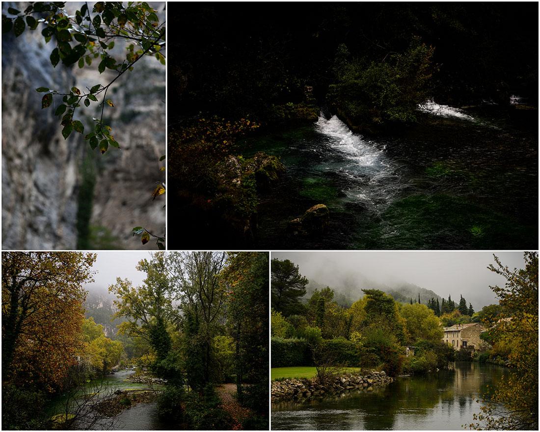 fontaine-de-vaucluse , automne