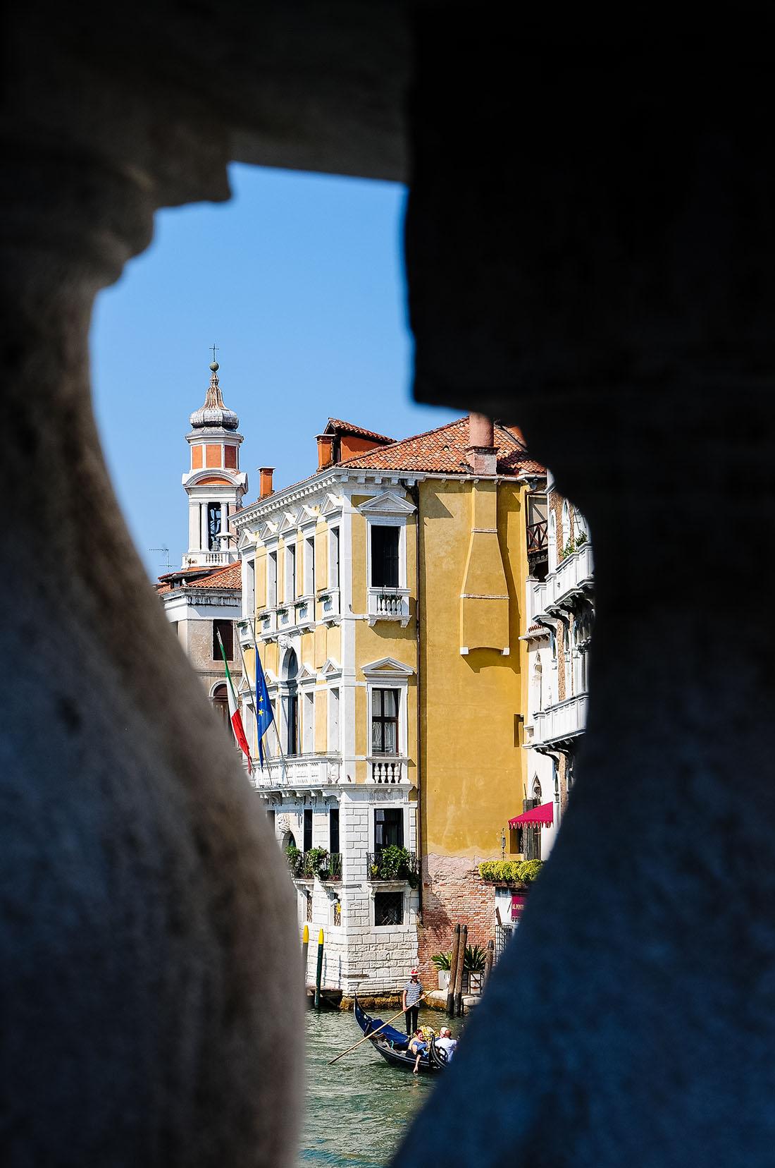 vue venise depuis le pont du Rialto