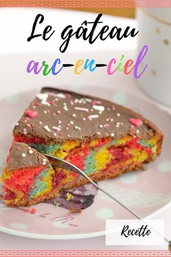 gâteau arc-en-ciel, recette, idée de gâteau pour enfants