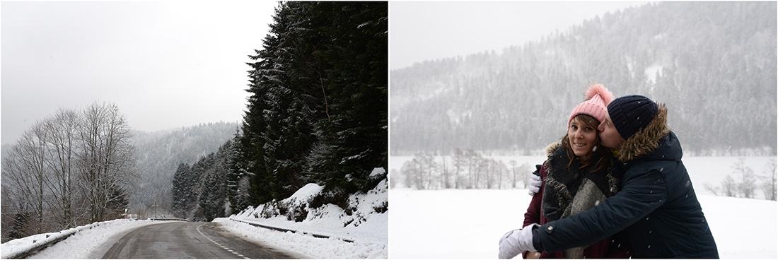 lac de Retournemer, Vosges, hiver, neige