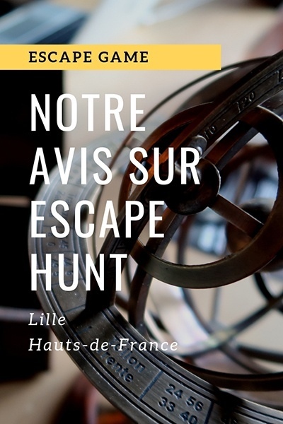 avis escape hunt, escape game autour de Lille