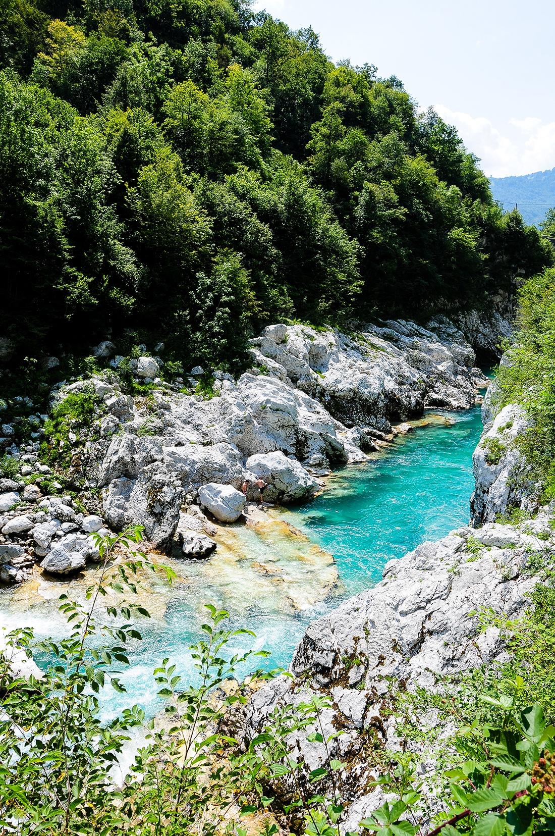 cascade Kozjac et vallee soca, slovenie