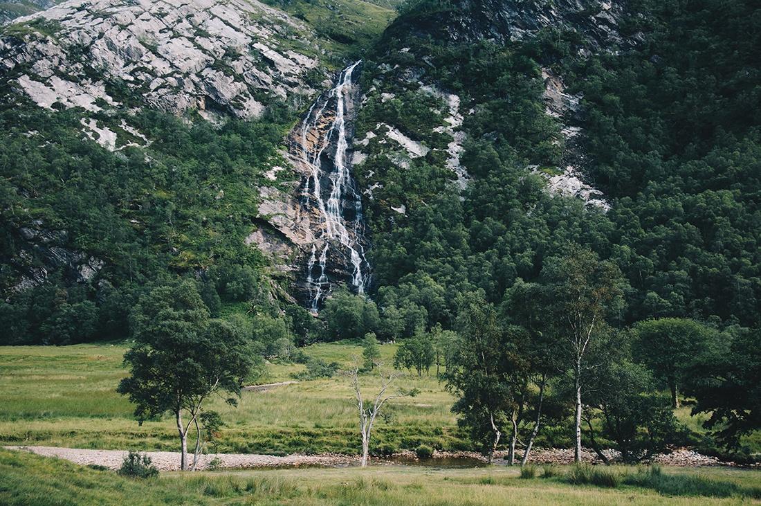 steall waterfalls , randonnée autour de harry potter , vallée de glencoe , ecosse