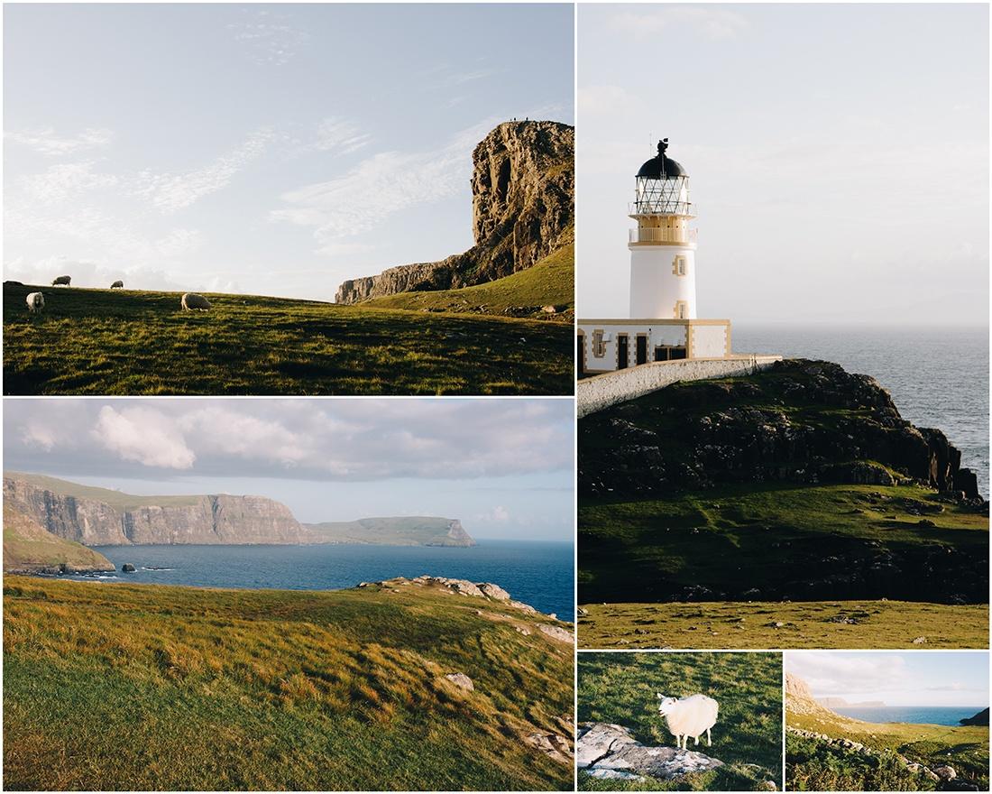 nest point, île de Skye, coucher de soleil, ecosse