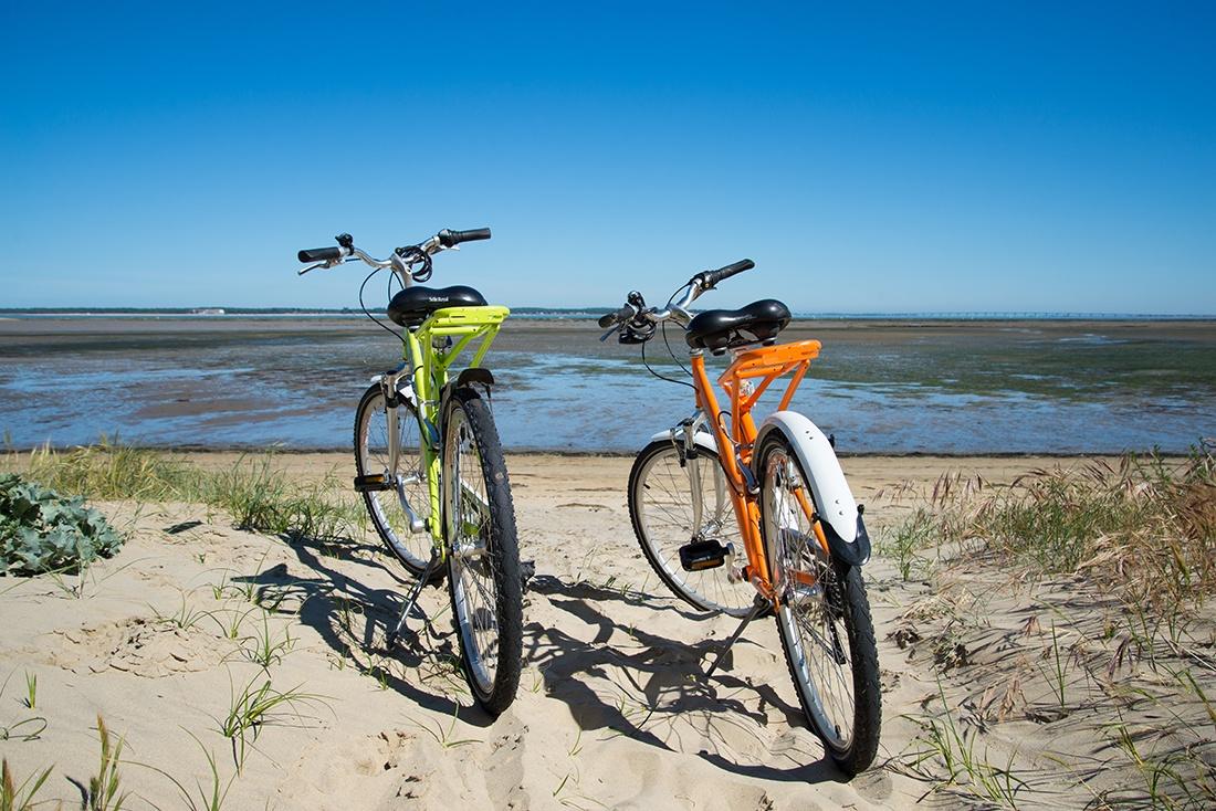 vélos, plage de la cèpe, loca services, la tremblade