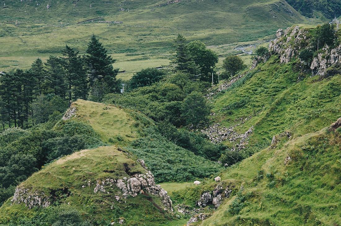 randonnée fairy glen, pyramides, île de Skye