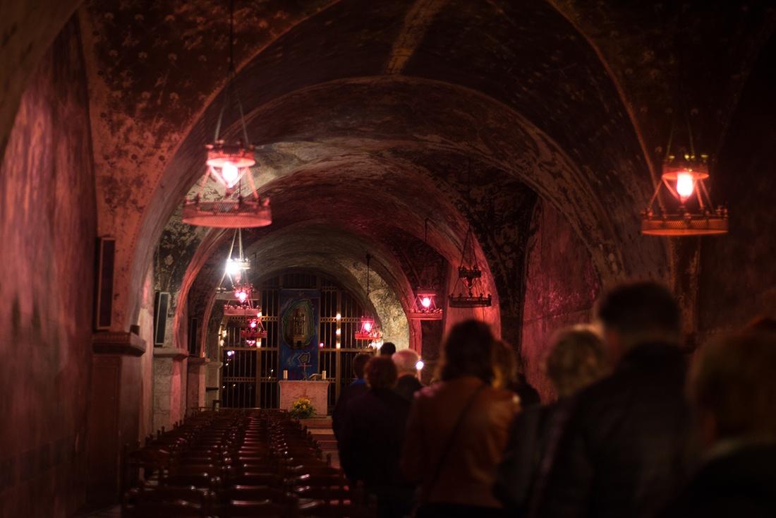 visite de la cathédrale de Chartres, chandelles