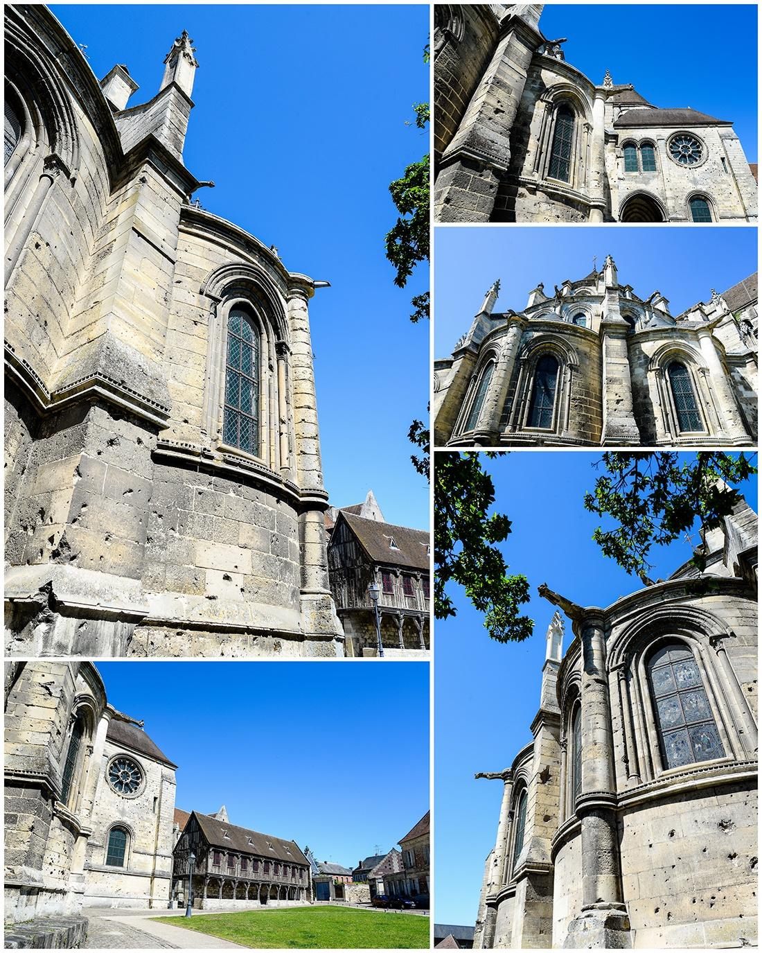 cathédrale de Noyon, traces d'obus