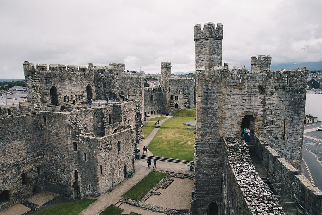 Château de Caernafon, pays de Galles