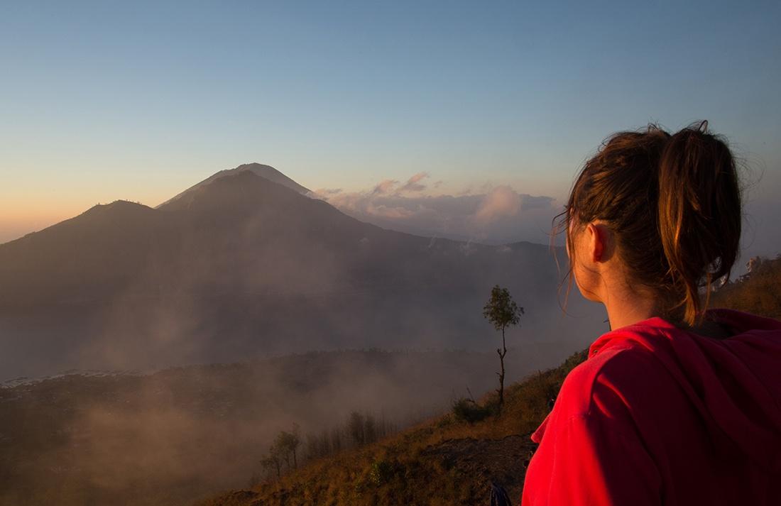 lever de soleil, mont Batur, Bali