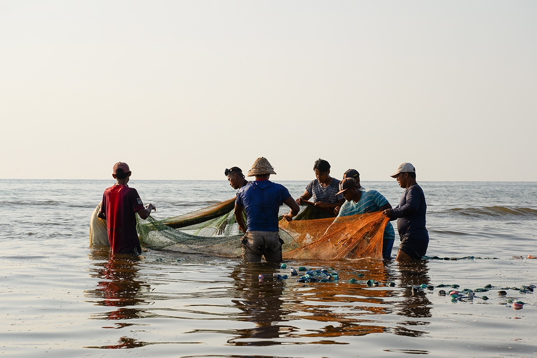 pêcheurs, Lovina, Bali