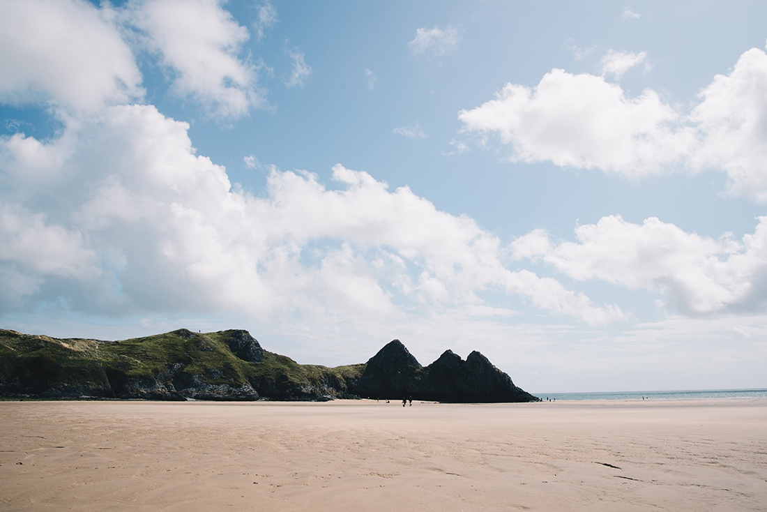 three cliffs bay, Pays de Galles