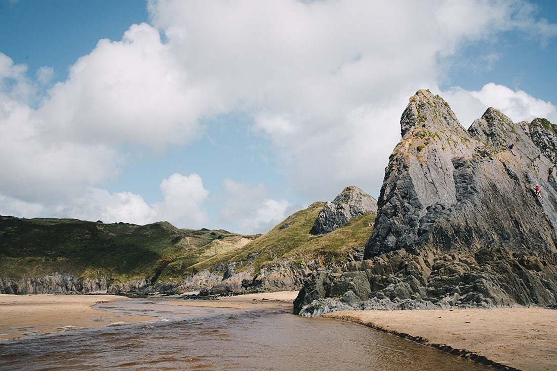 road-trip au Pays de Galles, conseils , three cliffs bay