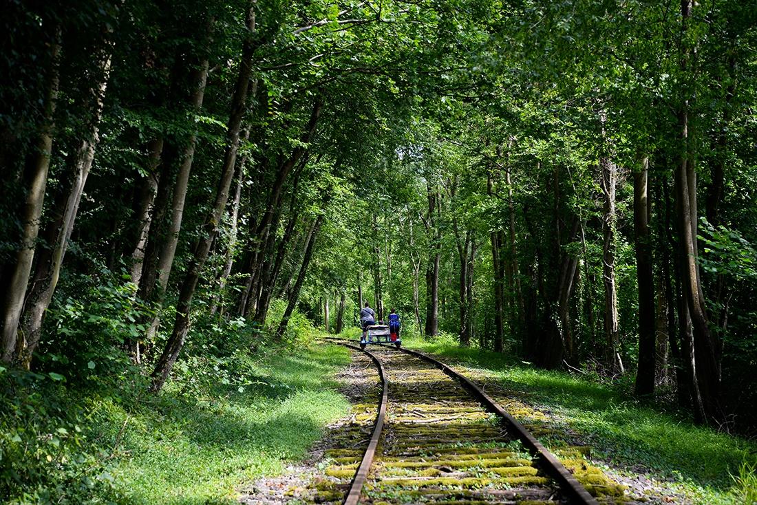balade en vélo-rail (au pays de Lumbres)