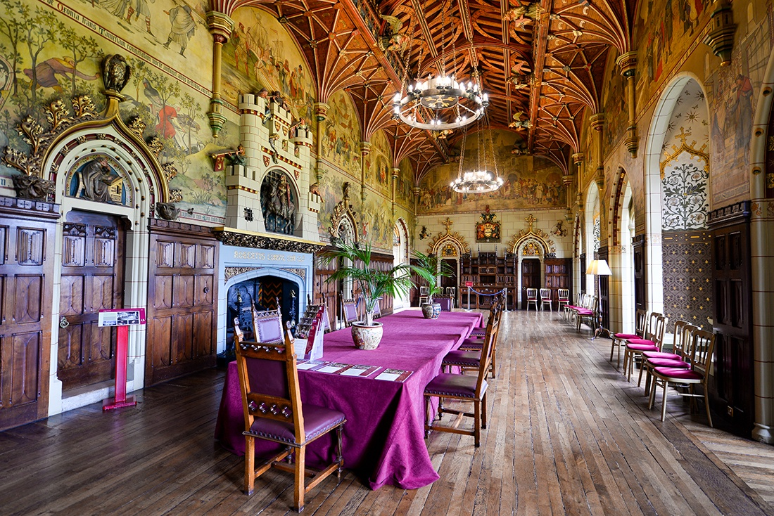 salle du banquet, château de cardiff