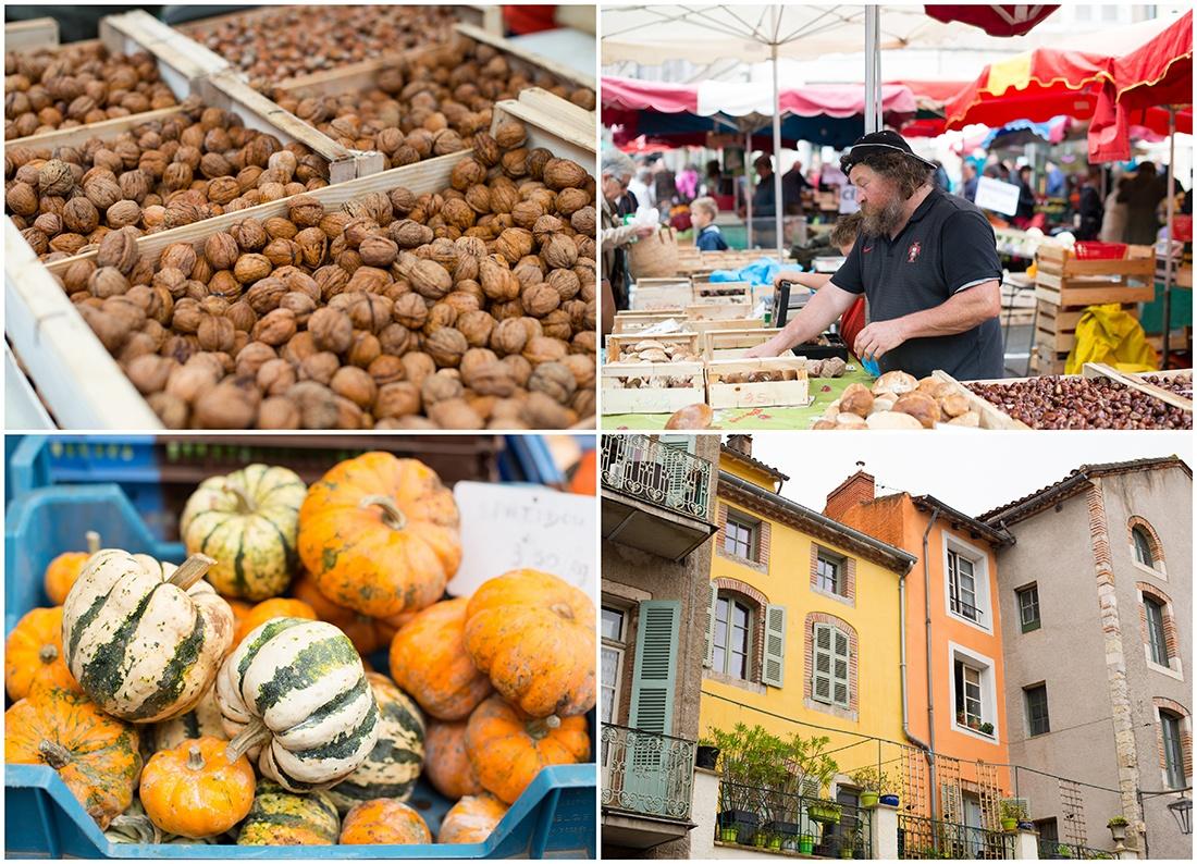 visite du marché de Cahors, Lot