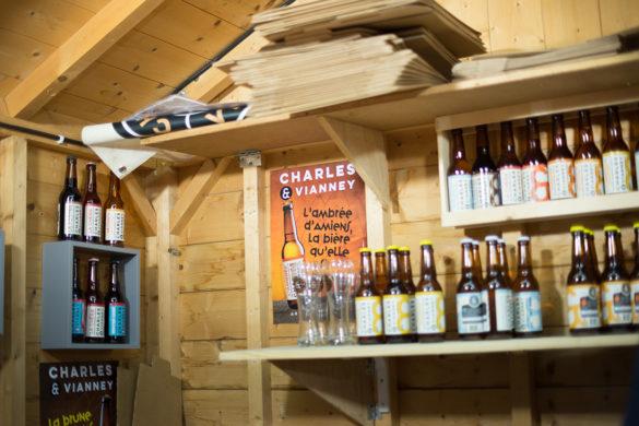 """bières artisanales """"Charles et Vianney"""", marché de Noël d' Amiens"""