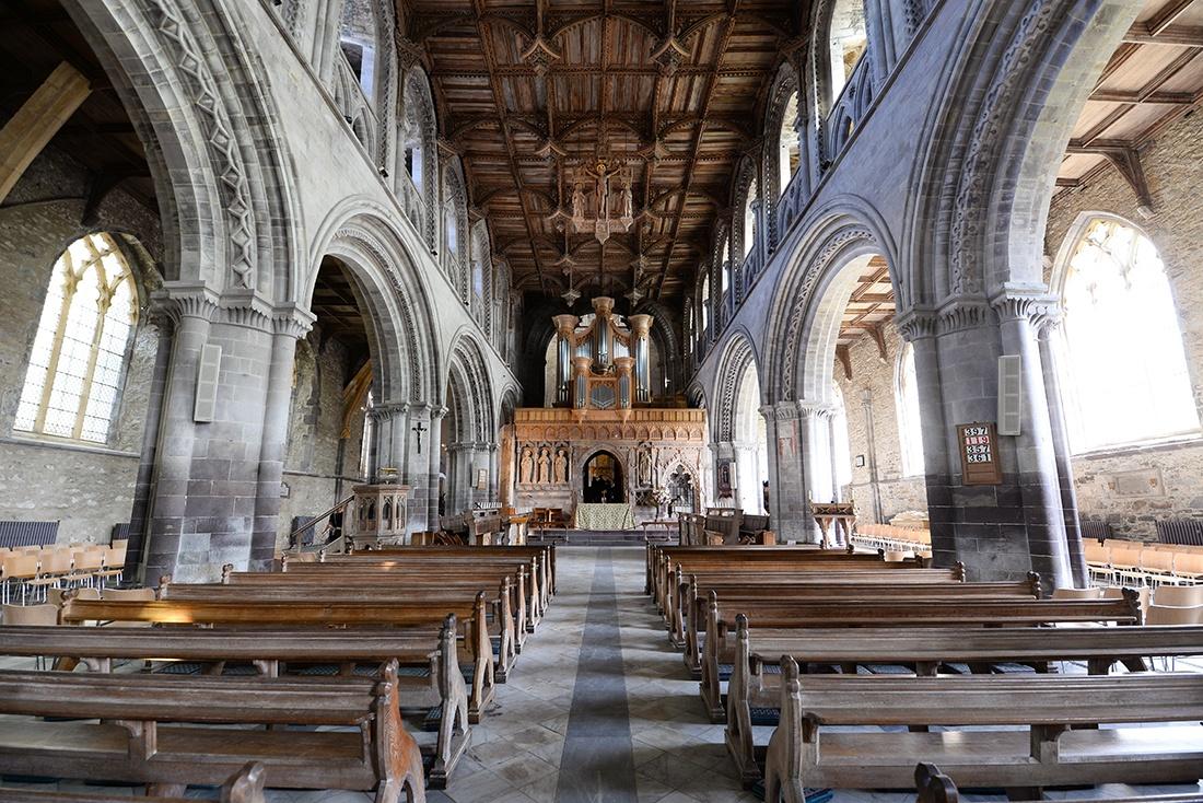 visite de la cathédrale saint david's , pays de galles, pembrokeshire