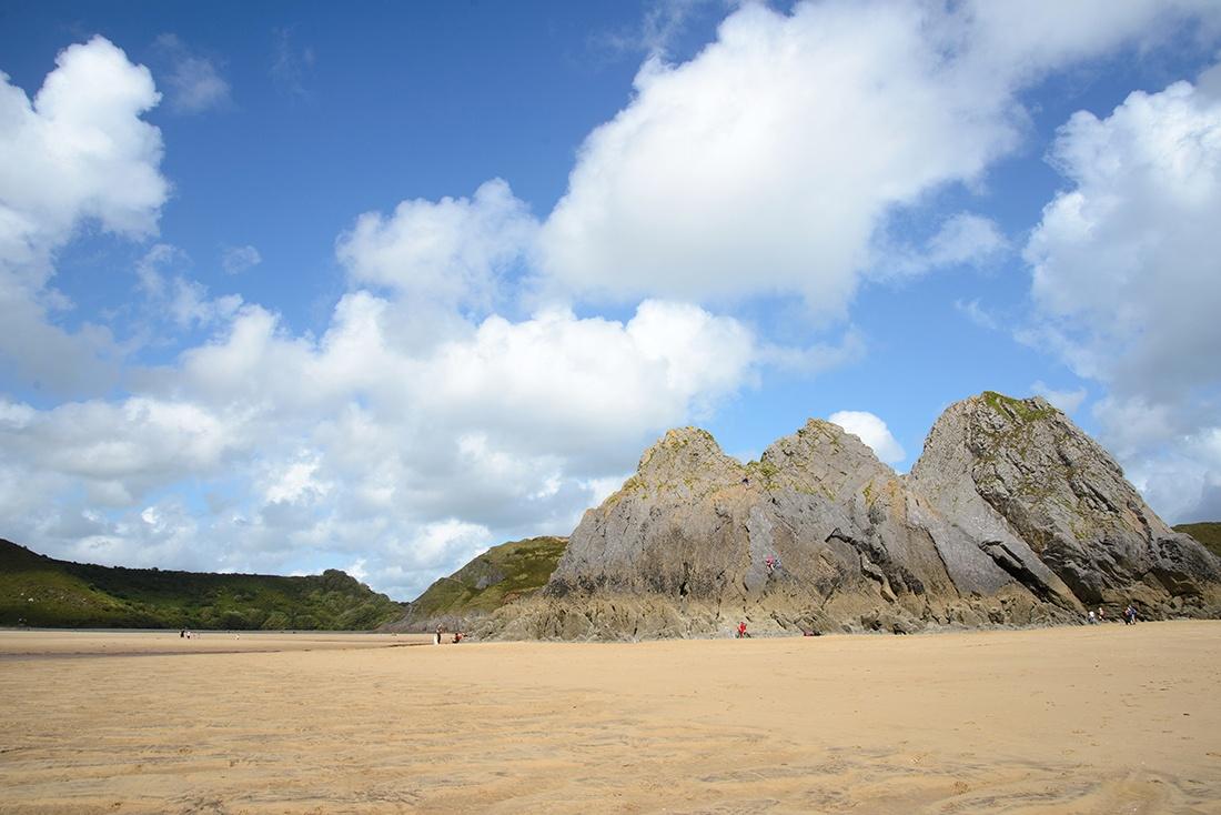 balade à three cliffs bay, swansea, gower peninsula, pays de Galles