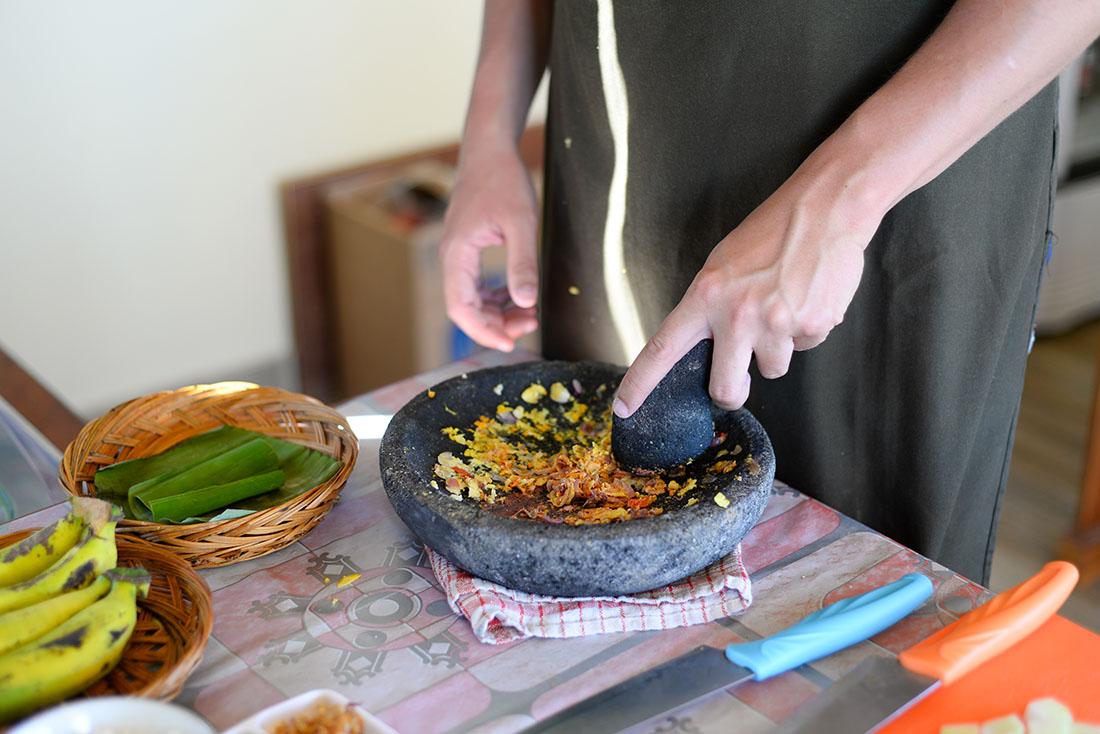 cours de cuisine, munduk, bali