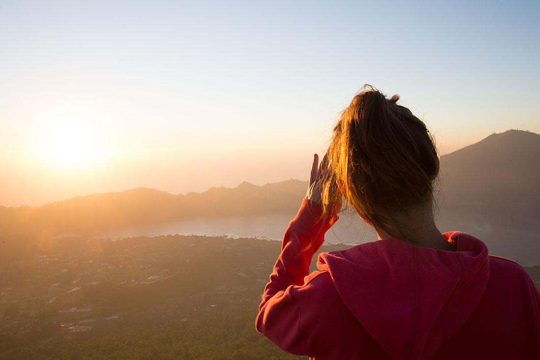 lever de soleil, mont bature, choses à faire à bali