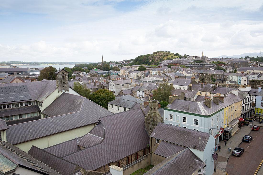 visite du château de caernafon, snowdonia , pays de galles
