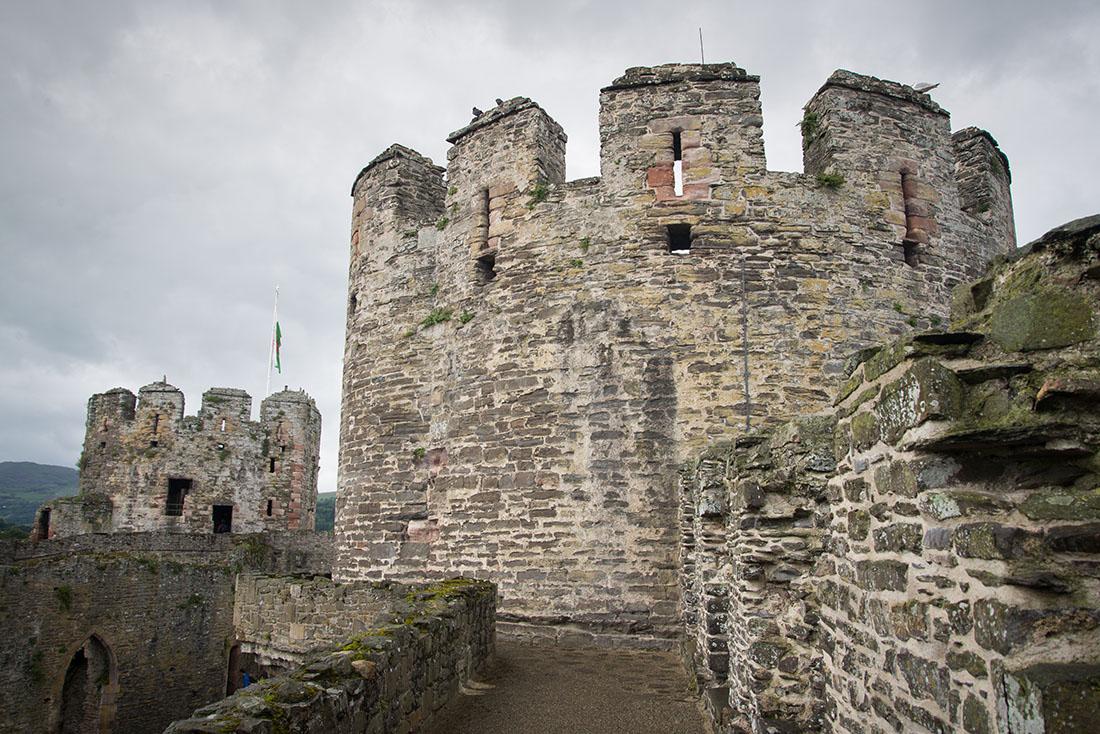 visite du château de conwy, snowdonia , pays de galles