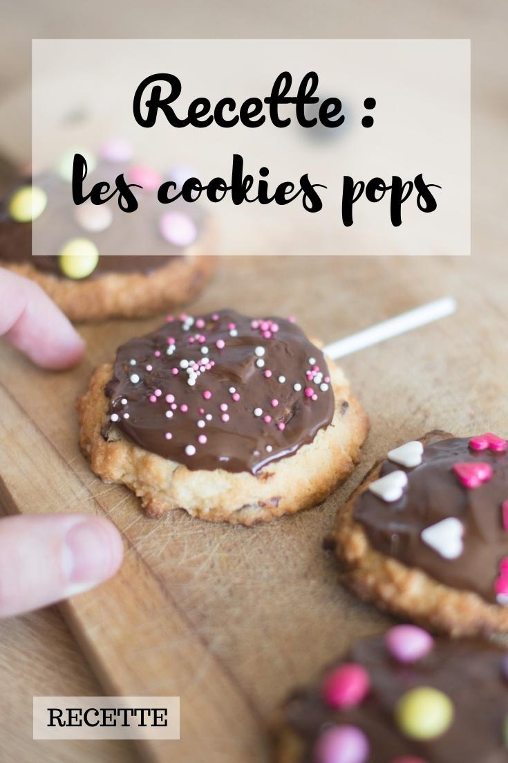 recette : les cookies pops au chocolat