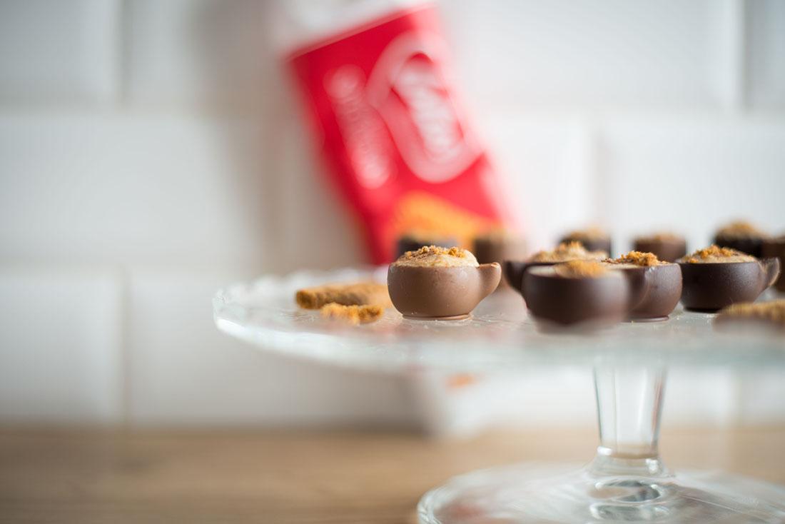 recette de mignardises au chocolat et speculoos