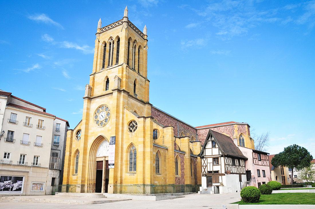 visite de roanne, loire, église saint-etienne