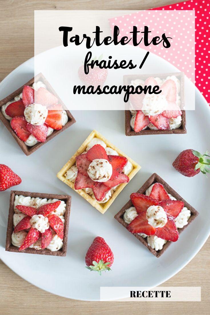 Recette facile et rapide : tartelettes aux fraises, chantilly au mascarpone, pâte sablée (au chocolat)