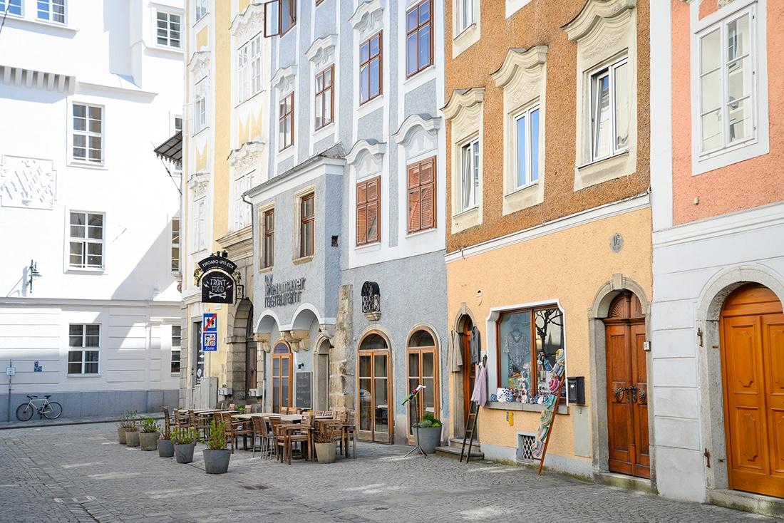 visite de Linz , autriche, centre-ville