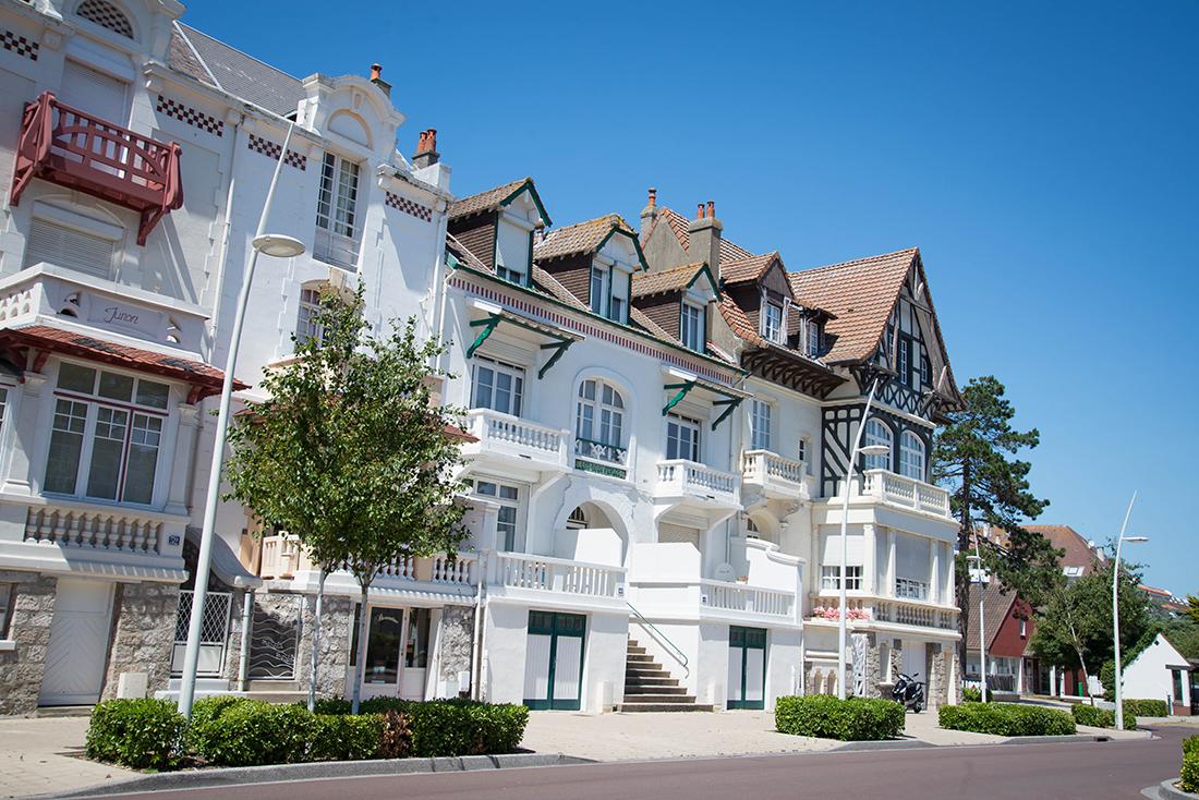 visite du centre-ville du Touquet, pas-de-calais,hauts-de-france, villas