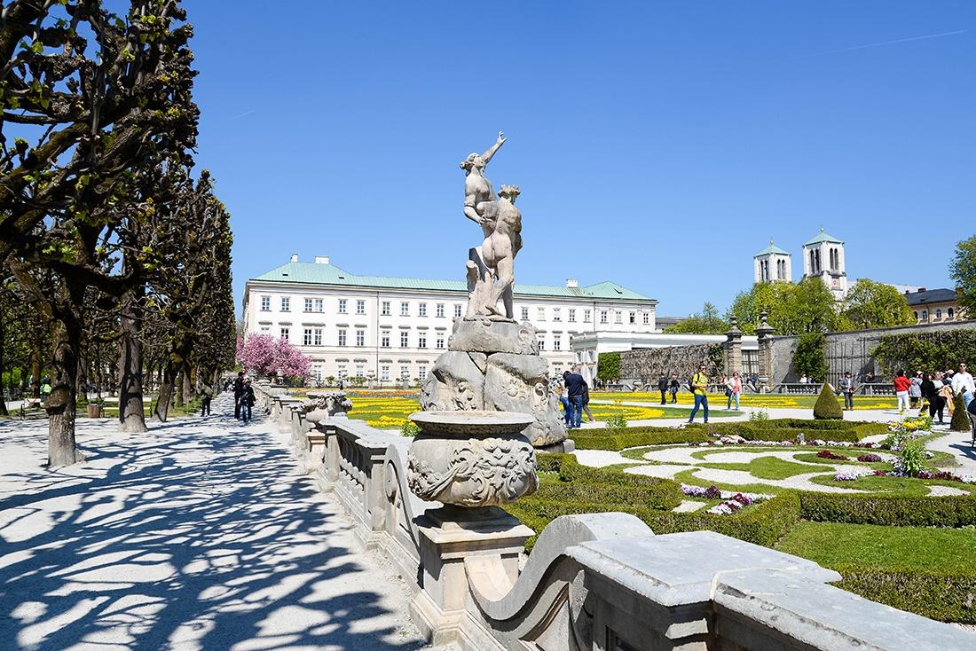 jardins mirabell, salzbourg