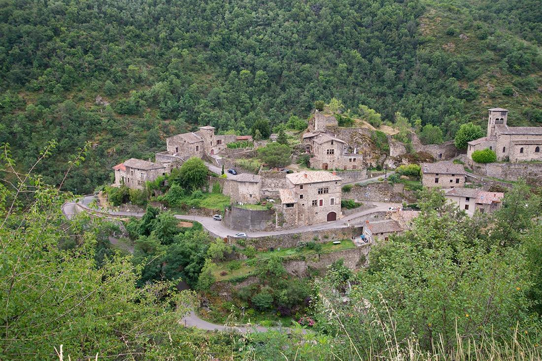 visite du village de malleval, pilat, loire