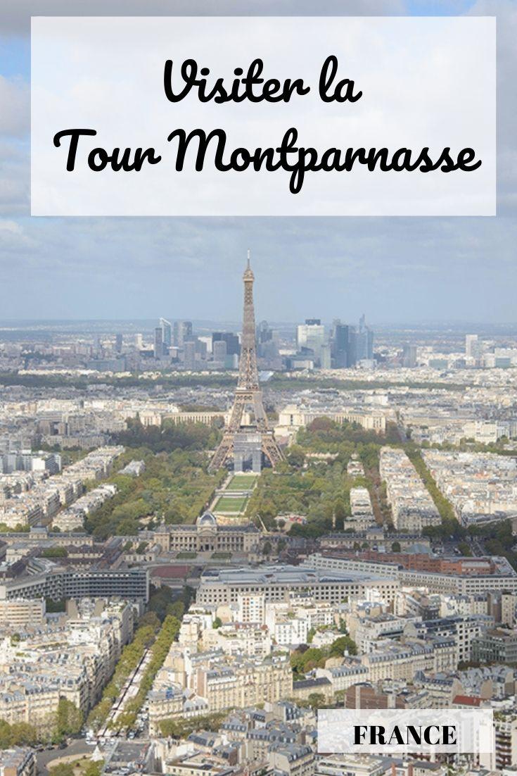 Vue sur Paris et la tour Eiffel depuis la tour Montparnasse