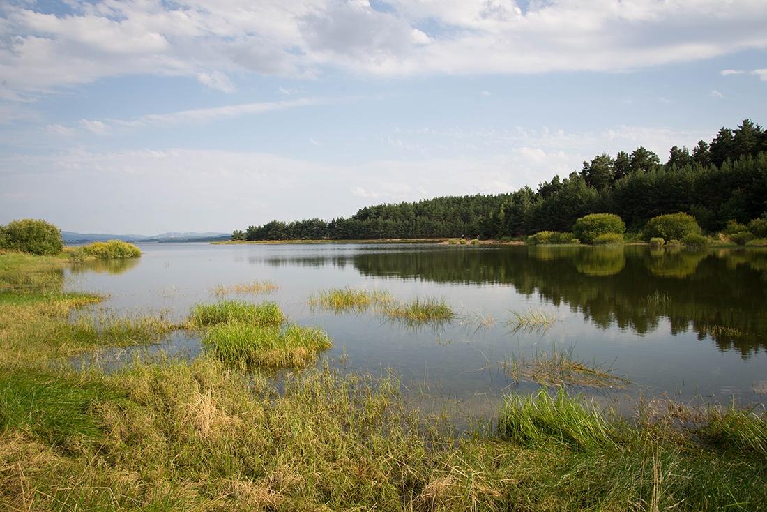 visite du lac de naussac en trottinette électrique tout terrain