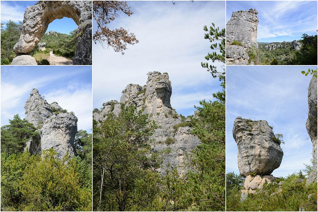 Cité de Pierres de Montpellier-le-Vieux , le plus grand chaos rocheux d'Europe, larzac