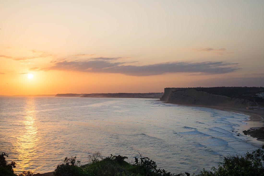 cap de Ponta da Piedade, coucher de soleil, lagos, Portugal