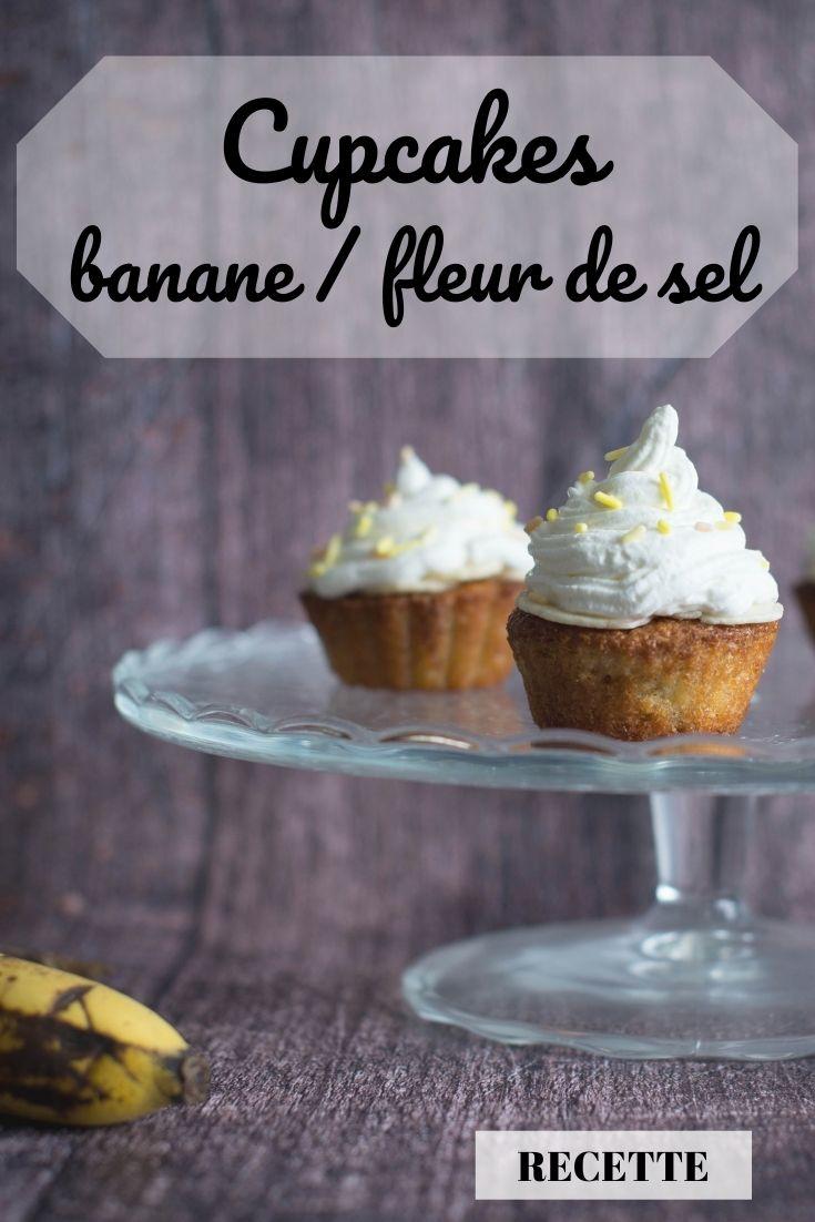 cupcakes banane et fleur de sel, recette