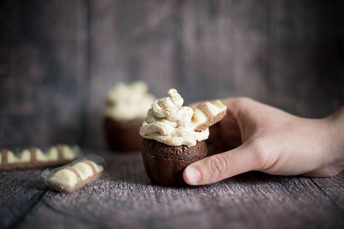 cupcakes aux kinder bueno white