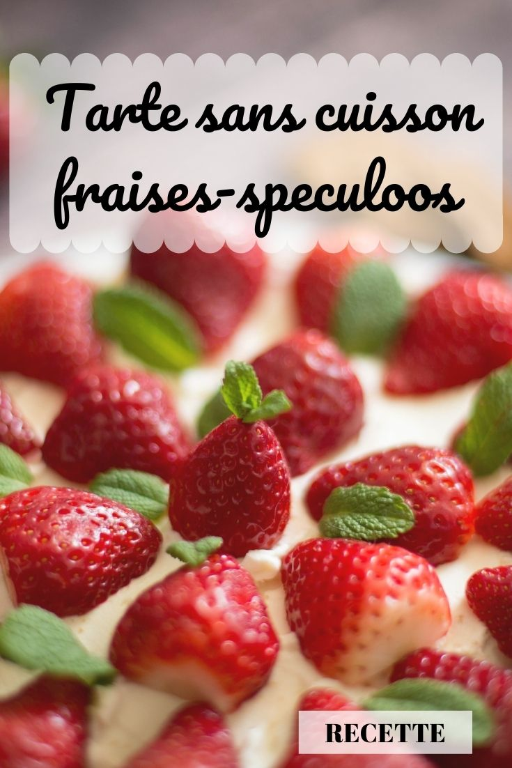 tarte fraises speculoos mascarpone sans cuisson au monsieur cuisine