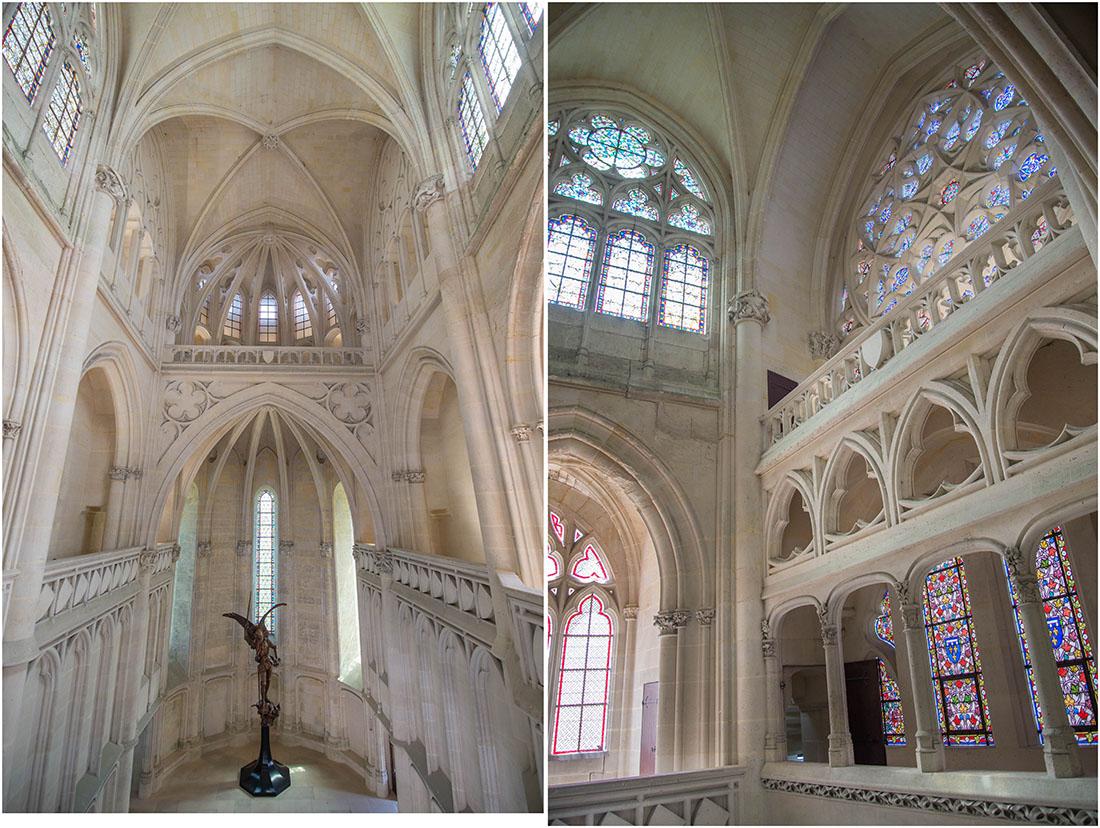visite du château de Pierrefonds dans l'Oise, chapelle