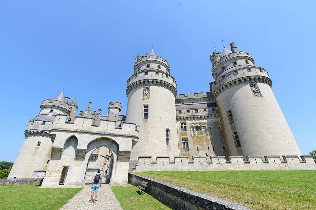 visite du château de Pierrefonds dans l'Oise, viollet le duc