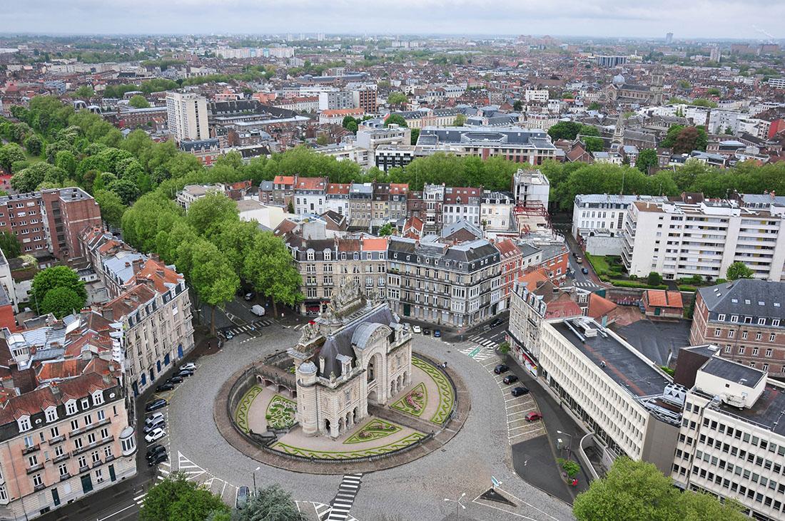 Vue sur Lille depuis son Beffroi